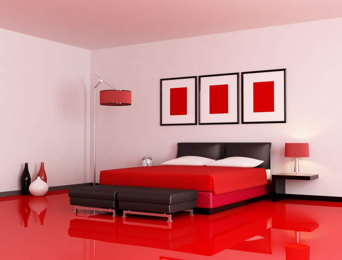Décoration - chambre de couleur rouge   coindouillet.com