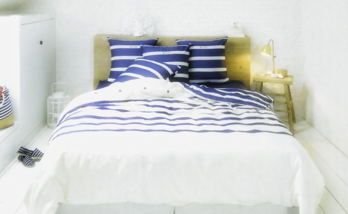 housse de couette 2 taies armor lux marin. Black Bedroom Furniture Sets. Home Design Ideas