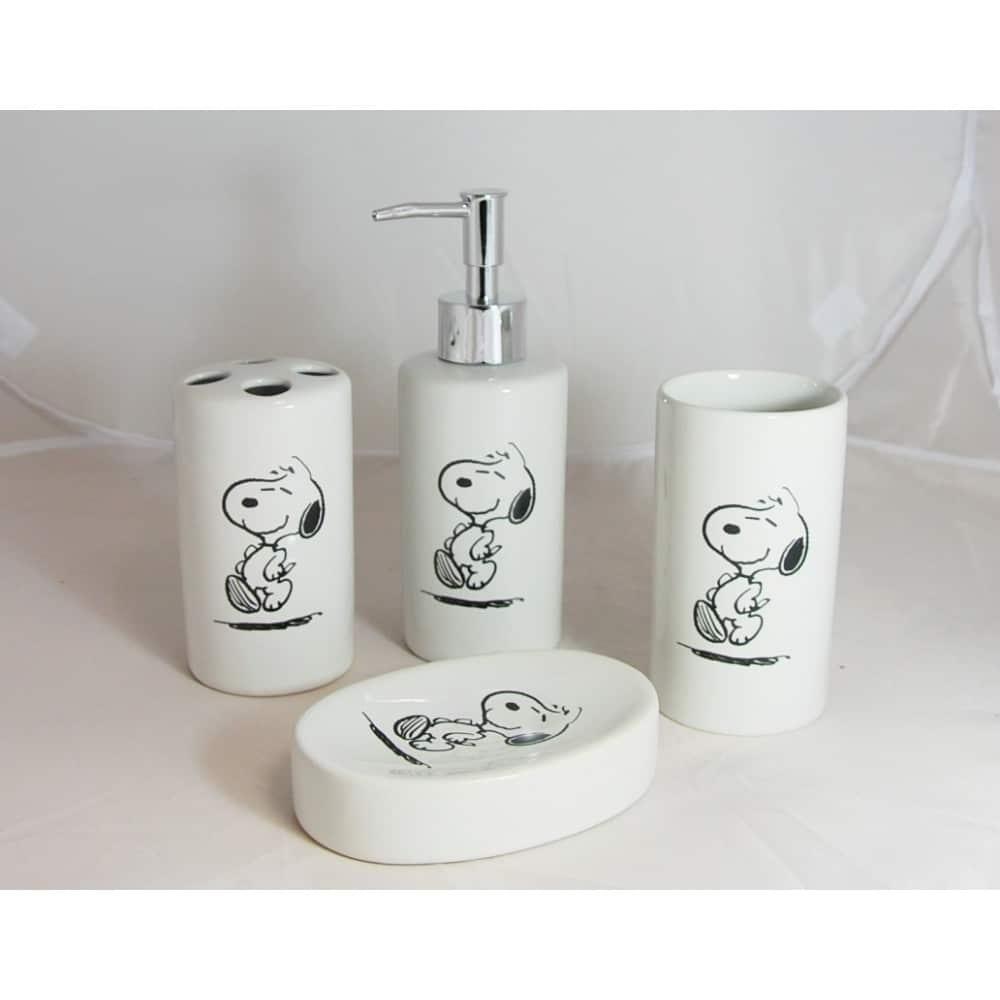 Ensemble de salle de bain en faience Snoopy